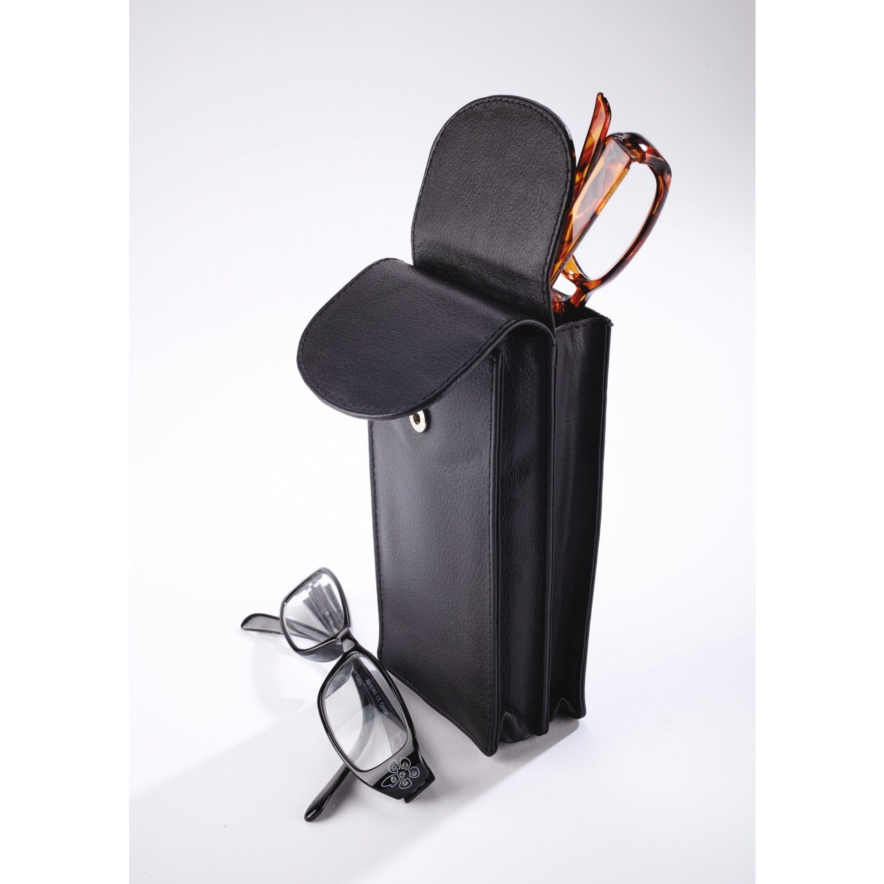 7. Personalised Leather Double Glasses Case