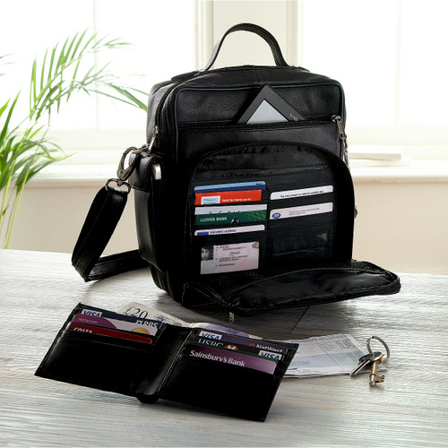 Leather Man Bag With FREE RFID Wallet