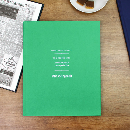 Personalised Telegraph Birthday Newspaper Book