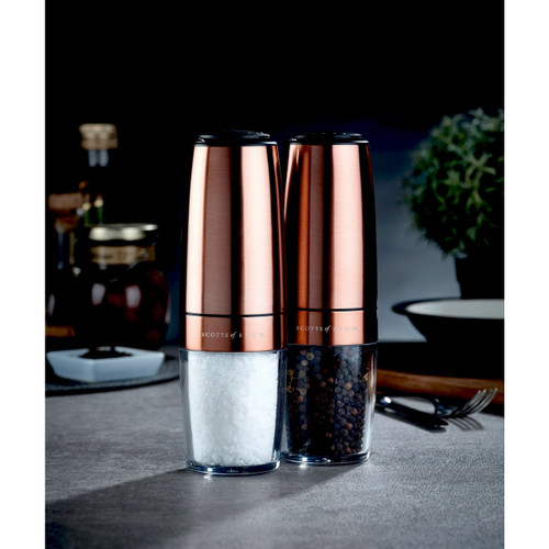 Electric Gravity Salt and Pepper Mill Set