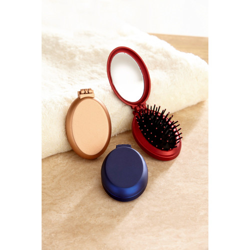 Compact Handbag Hairbrushes - Set of 3