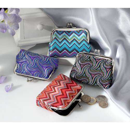 Jewel Jacquard Coin Purses - Set of 4