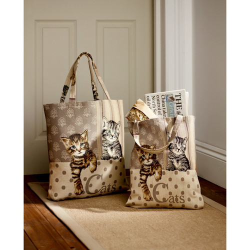 Cat Tapestry Tote Bag - Set of 2