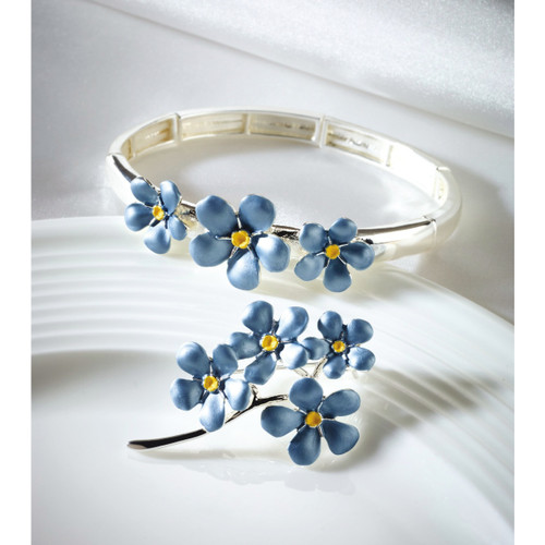 Forget-Me-Not Enamelled Bracelet