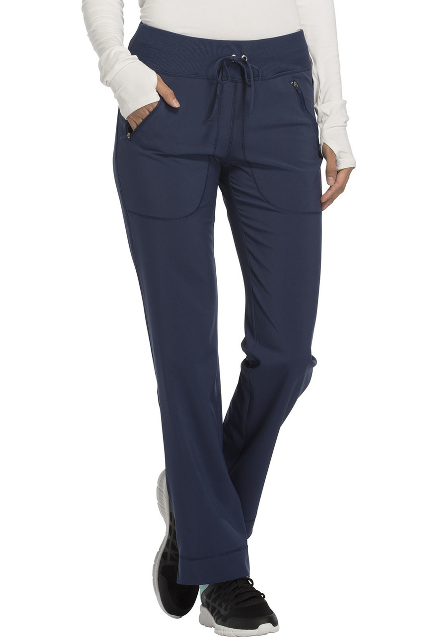 ea300053cac Cherokee Infinity CK100A Women's Mid Rise Tapered Leg Drawstring Scrub Pants  (CK100A) ...