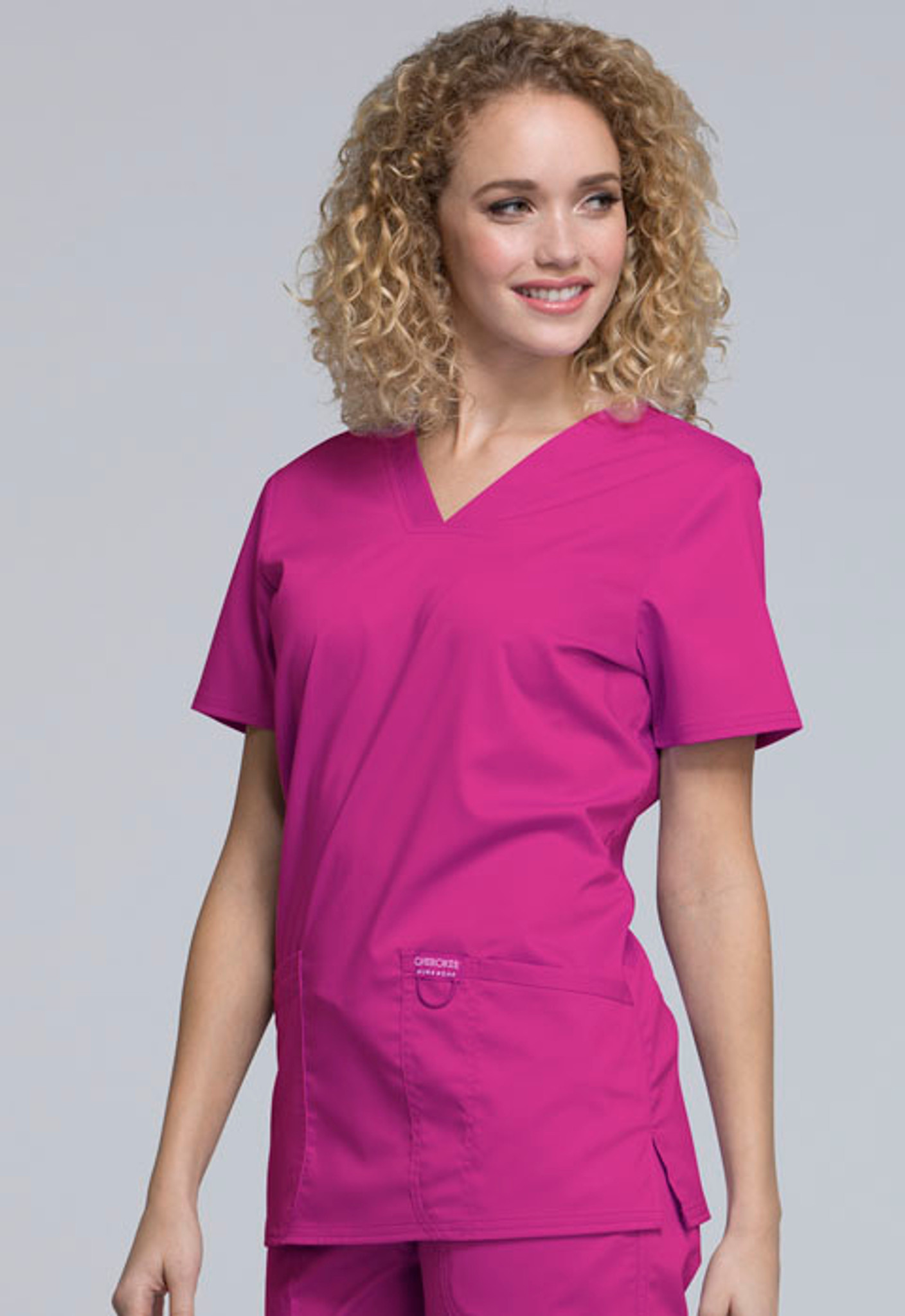 Cherokee Workwear Revolution WW620 Two Pocket Women's V-Neck Scrub Tops