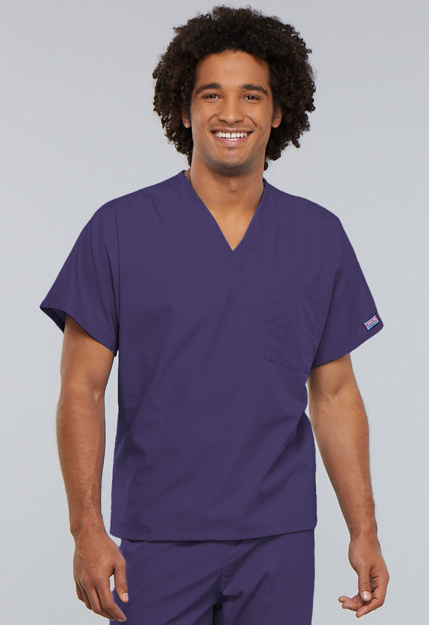 Cherokee Workwear Originals 4777 Unisex V-Neck Scrub Top with One Chest Pocket (4777)