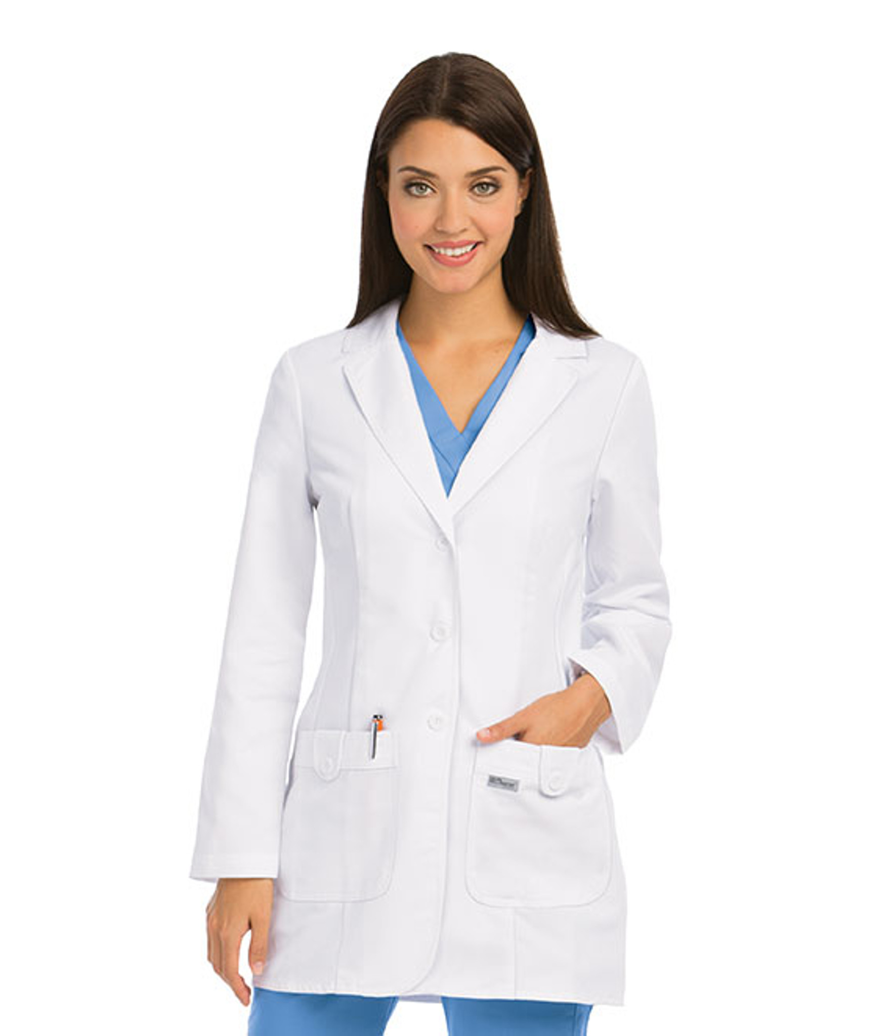 """Grey's Anatomy 7446 Women's Two Pocket 32"""" Fitted Lab Coat by Barco"""