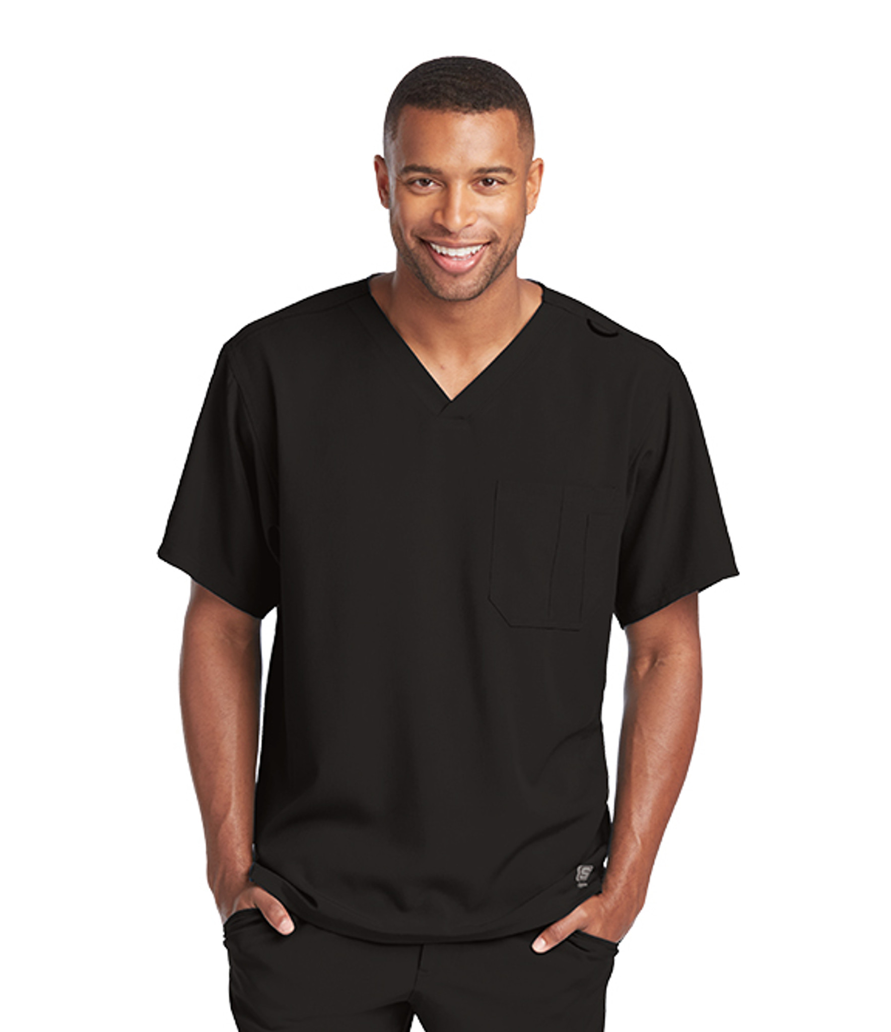 Skechers SK0112 Men's Structure V-Neck Scrub Top by Barco (SK0112) Model