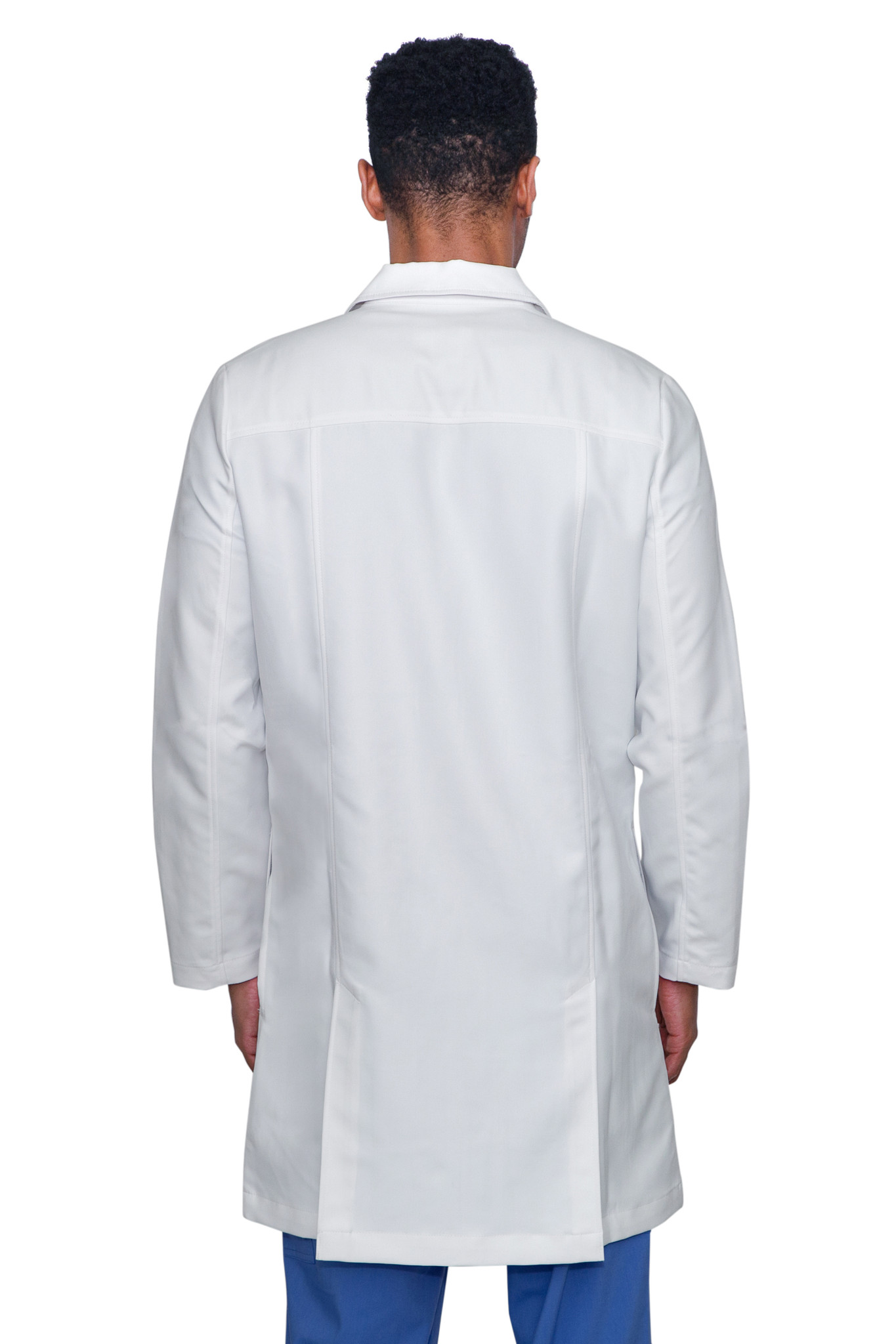 Healing Hands White Coat 5103 The Professional Lyndon Men's Lab Coat with Fluid Protection and Wrinkle Resistance Back Image