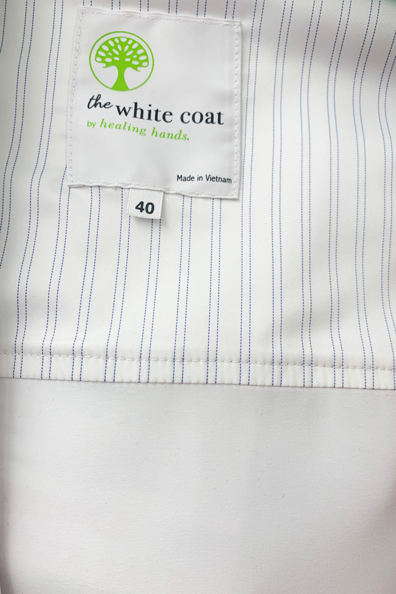 Healing Hands White Coat 5103 The Professional Lyndon Men's Lab Coat with Fluid Protection and Wrinkle Resistance Plackett Image