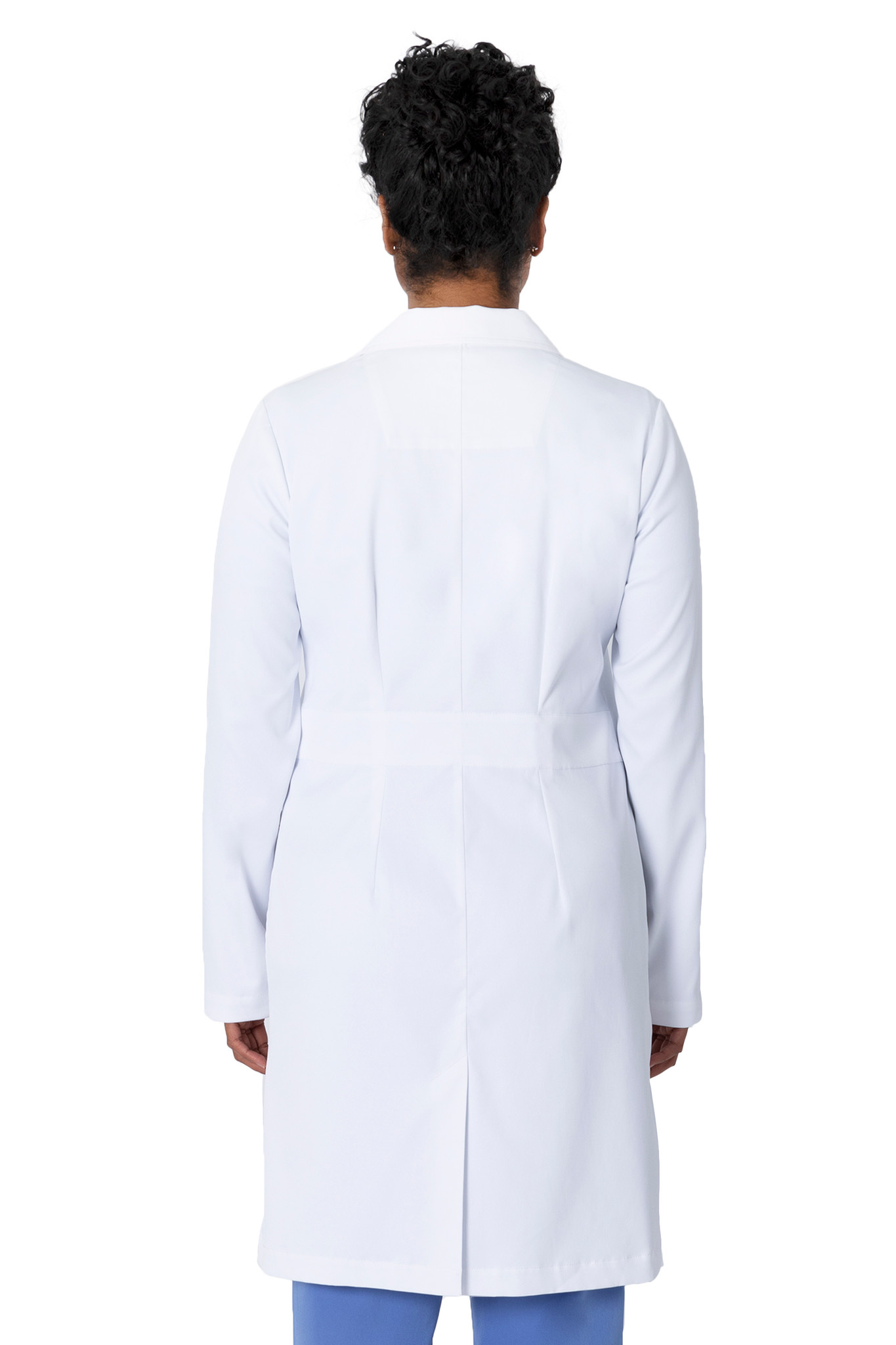 Healing Hands White Coat 5161 The Minimalist Fay Women's Lab Coat Back Image