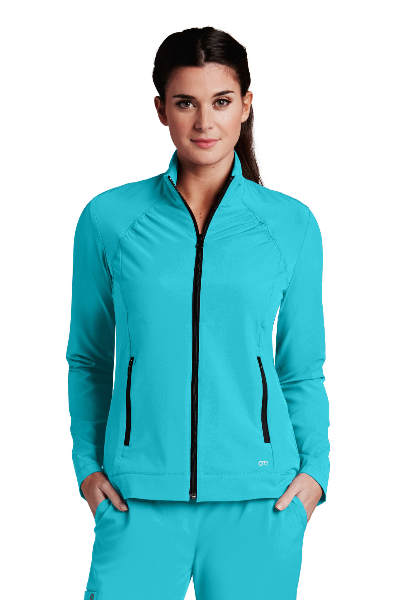 Barco Barco ONE 5405 Women's Lightweight Two Pocket Zip Up Scrub Jacket (5405) Front
