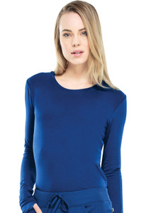 Cherokee Infinity 2626A Women's Antimicrobial Long Sleeve Underscrub Knit Tee (2626A) Model Image Front.