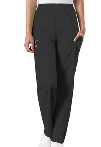 Cherokee Workwear Originals 4200 Women's Natural Rise Tapered Leg Elastic Waist Cargo Scrub Pant