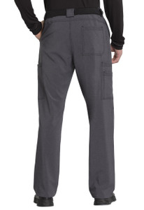 Cherokee Infinity CK200A Men's Fly Front Scrub Pants with Elastic Waist and Button Front with Five Pockets (CK200A)