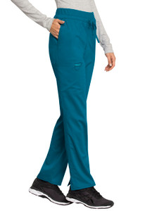 Cherokee Workwear Revolution WW105 Women's Knit Waist Tie Front Scrub Pants