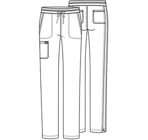 Cherokee Workwear Revolution WW105 Women's Mid Rise Tapered Leg Scrub Pant