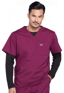 Cherokee Workwear Professionals WW675 Men's V-Neck Scrub Top, Front