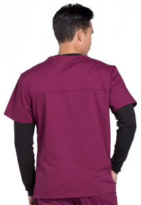 Cherokee Workwear Professionals WW675 Men's V-Neck Scrub Top, Back