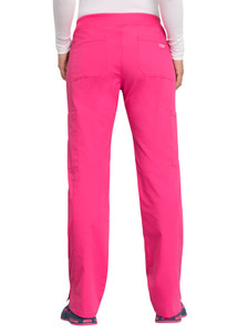 Cherokee Workwear Professionals WW170 Women's Straight Leg Elastic Waist Scrub Pants, Back