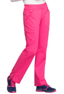 Cherokee Workwear Professionals WW170 Women's Straight Leg Elastic Waist Scrub Pants, Left