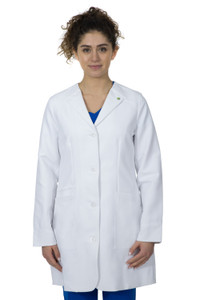 Healing Hands White Coat 5102 The Professional Farrah Women's Lab Coat with Fluid Protection and Wrinkle Resistance Front Image
