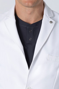 Healing Hands White Coat 5103 The Professional Lyndon Men's Lab Coat with Fluid Protection and Wrinkle Resistance Collar Image