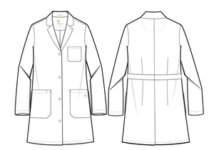Healing Hands White Coat 5161 The Minimalist Fay Women's Lab Coat Line Art Image