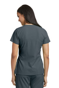 Barco ONE 5105 Women's Four Pocket Perforated Detail Performance V-Neck Scrub Top Back Side