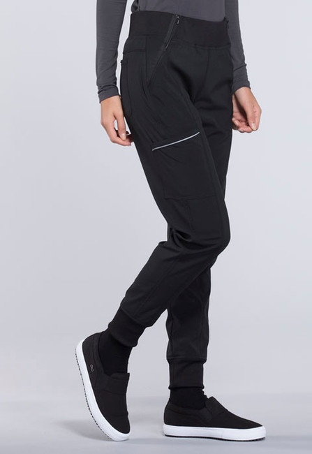 Cherokee Infinity CK110A Women's Sporty Mid Rise Tapered Leg Jogger Scrub Pants with Elastic Knit Waist and Five Pockets (CK110A)