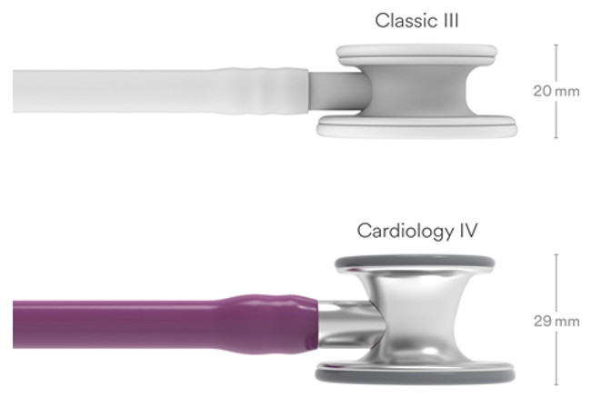 Littmann Cardiology 4 stethoscopes with dual diaphragm and pressure sensitive tuning. Detail Image 2.