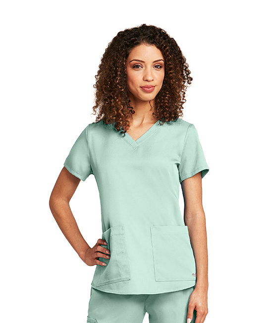 Grey's Anatomy 71166 Women's Two Pocket V-Neck Scrub Top with Shirred Back by Barco