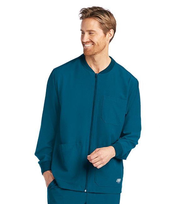 Skechers SK0408 Men's Three Pocket Structure Scrub Jacket by Barco (SK0408) Model