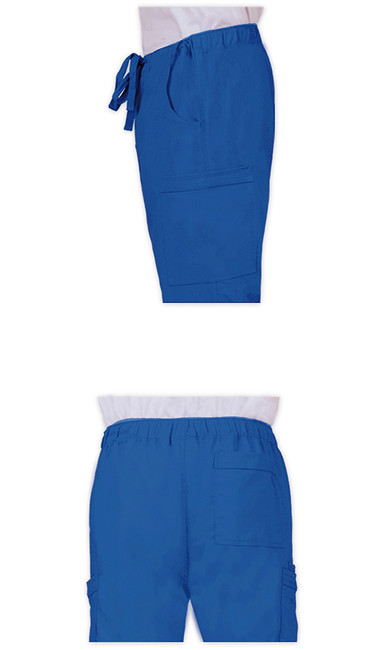 Healing Hands Blue Label 9124 Dylan Men's Scrub Pants with Cargo Pockets and Tie Front, Details