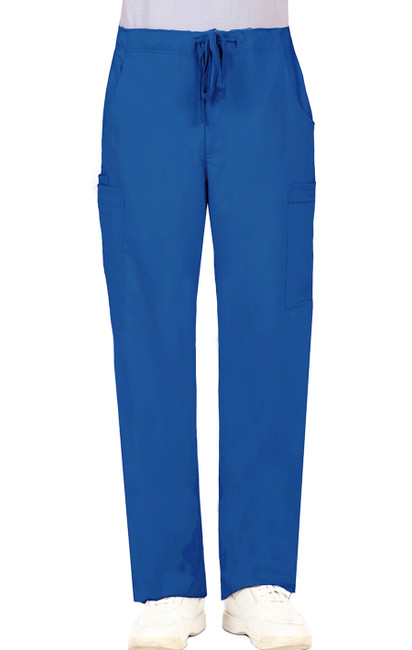 Healing Hands Blue Label 9124 Dylan Men's Scrub Pants with Cargo Pockets and Tie Front