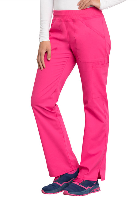 Cherokee Workwear Professionals WW170 Women's Straight Leg Elastic Waist Scrub Pants, Right