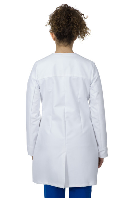 Healing Hands White Coat 5102 The Professional Farrah Women's Lab Coat with Fluid Protection and Wrinkle Resistance Back Image