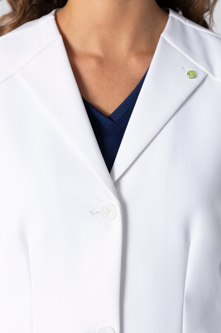 Healing Hands White Coat 5102 The Professional Farrah Women's Lab Coat Collar Image