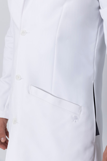 Healing Hands White Coat 5103 The Professional Lyndon Men's Lab Coat with Fluid Protection and Wrinkle Resistance Pocket Image