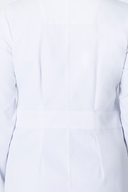 Healing Hands White Coat 5161 The Minimalist Fay Women's Lab Coat Back Detail Image
