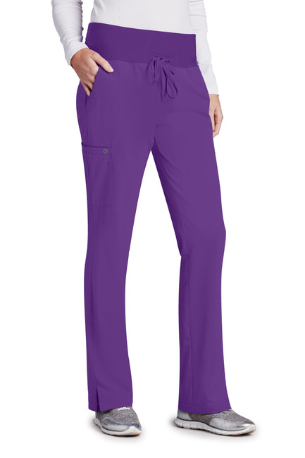 Barco Barco ONE 5206 Women's Five Pocket Knit Waist Tie Front Scrub Pants (5206) Front