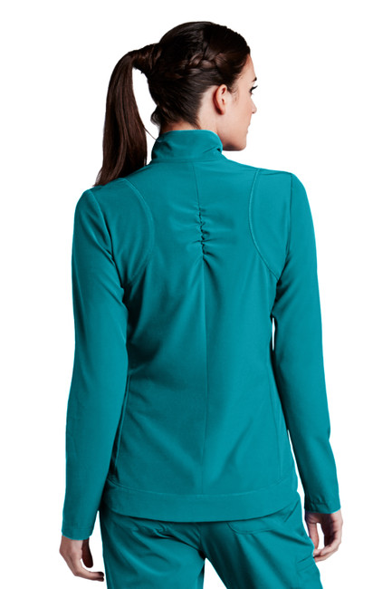 Barco Barco ONE 5405 Women's Lightweight Two Pocket Zip Up Scrub Jacket (5405) Back