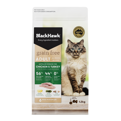 Black Hawk Grain Free Chicken & Turkey Dry Cat Food