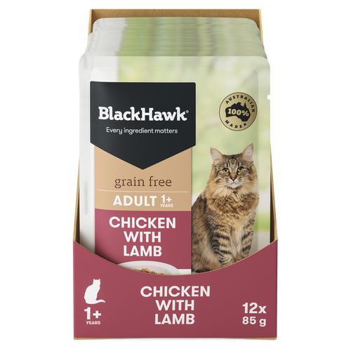 Black Hawk Chicken with Lamb Wet Cat Food