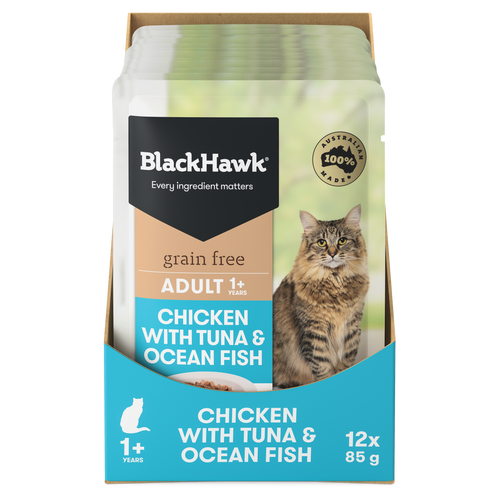 Black Hawk Chicken with Tuna & Ocean Fish Wet Cat Food