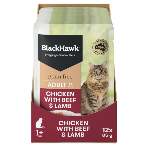 Black Hawk Chicken with Beef & Lamb Wet Cat Food