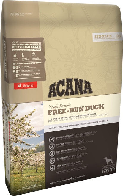 Acana Singles Free-Run Duck Dry Dog Food