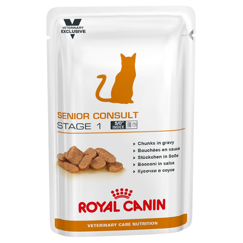 Royal Canin Vet Senior Consult Stage 1 Wet Cat Food