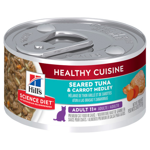 Hill's Science Diet Adult 11+ Healthy Cuisine Tuna & Carrot Medley Canned Wet Cat Food